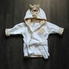 Hb Hudson Baby Infant Nerdy Giraffe w/Glasses Hooded Bath Robe 0-9 M Mo Months