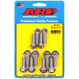 ARP 434-2001 Small Block Chevy Stainless Steel hex intake manifold bolt kit