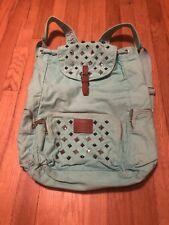 Victoria Secret Pink Lime Light Blue Studded Drawstring Backpack
