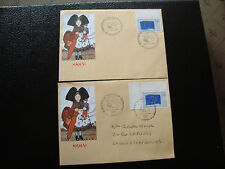 FRANCE - 2 enveloppes 26/2/1994 (election parlement europeen) (cy37) french