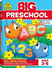 School Zone - Big Preschool Workbook, Colors, Shapes, Numbers 1-10, and More