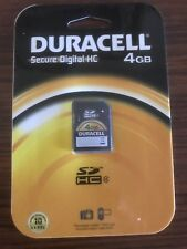 Duracell Secure Digital High Capacity (SDHC) Memory Card 4GB NEW