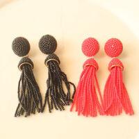 New BaublebarTassel Drop Earrings Fashion Women Party Jewelry 2Colors Chosen FS