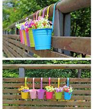 20pcs Set Metal Iron Flower Pot Fence Pots Hanging Balcony Garden Home Decor