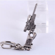 1 PC Mini ​Military AWM Sniper Weapon Gun Model Metal Pendant Keychain Key Ring