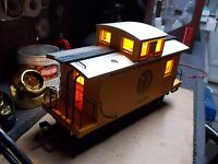 "LED LGB Bobber Caboose 4"" Warm White & 2"" Amber & 2-Solid Red Tail Lights"