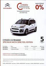 Citroën C3 Picasso Feel Edition 09 / 2016 catalogue brochure tcheque limitée