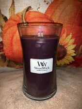 Woodwick Spiced Blackberry Large Candle 21.5oz New Free Ship Hourglass Yankee