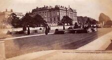 1879  fairly large photo of chatsworth house derbyshire .