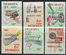 STAMPS-NICARAGUA. 1964. Tokyo Olympic Games  Set. SG: 1515/20. Mint Never Hinged