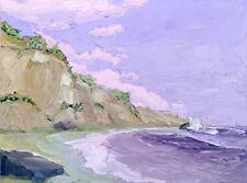 PURPLE COAST Original Seascape Expression Oil Painting 18x24 031918 KEN