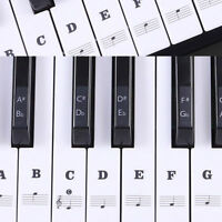 Music Keyboard /Piano Sticker 88/61/54/49 Key Set Learn To Play Faster Beginner