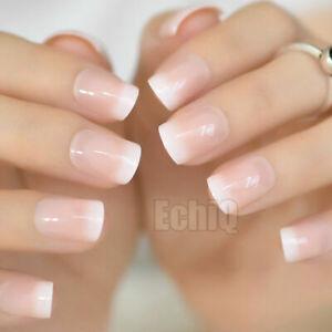 24/1 French Manicure Short / Medium / Long Full Cover False Fake Nails Tips
