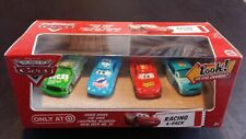 CARS - RACING CHICK HICKS KING McQUEEN VIEW ZEEN 4 PACK - Mattel Disney Pixar