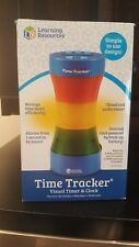 Learning Resources Time Tracker Visual Timer  Clock, Blue
