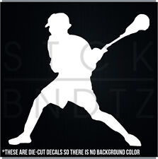 LACROSSE PLAYER CUTE FUNNY DECAL STICKER MACBOOK CAR WINDOW MOTORCYCLE