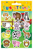 6 Farm Animal Sticker Sheets - Pinata Toy Loot/Party Bag Fillers Wedding/Kids