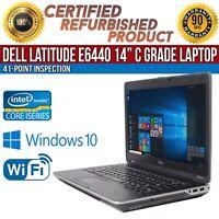 """C Grade Dell Latitude E6440 14"""" Intel i5 8 GB RAM 128 GB SSD Win 10 WiFi Laptop"""