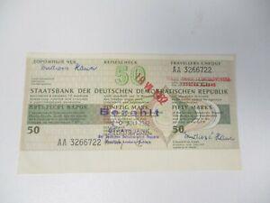 DDR 1982 Reisescheck 50 Mark der Staatsbank