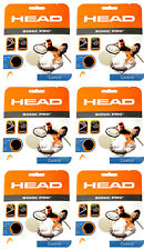 HEAD SONIC PRO 16 Gauge BLACK tennis racquet string set 6 PACKS - FREE SHIPPING