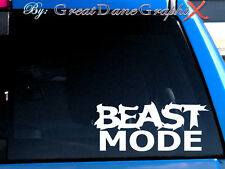 """Beast Mode"" Style #1 Vinyl Car Decal Sticker / Choose Color-HIGH QUALITY"