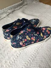 Cath Kidson High Tops Size UK 6 Floral Sneakers Flat Ladies