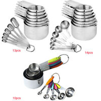 Stainless Steel Measuring Cups Measuring Spoons Scoop Set Kitchen Baking Tools