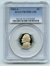 1983 S 5C Jefferson Nickel Proof PCGS PR70DCAM