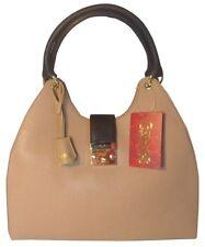 NWT CARLOS by Carlos Santana Luna Tan Black Tote Bag purse shoulder bag $118