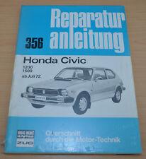 Honda Civic 1200 1500 ab Juli 1972 Bucheli Motor Getrieb Reparaturanleitung B356