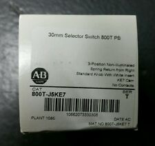 """NIB"" Allen Bradley 800T-J5KE7,ser T,3 position selector switch,spring return"