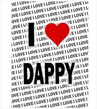 I Love Dappy - A3 Poster - Gift Birthday Stocking Filler