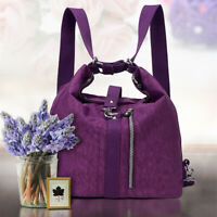 Waterproof Nylon Women Lightweight Handbag Crossbody Bag Backpack Large Capacity