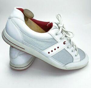 ECCO Street PremiereWhite Red  Sport Sneakers Golf Shoe Mens EU 46 USA 12-12.5