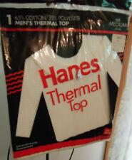 Nos Vtg Hanes 1994 Thermal Top Waffle Undershirt M 38/40 Ski Oldstock
