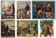 LOT 6 VINTAGE CALENDAR PRINT 1940S GENUINE ABRAHAM LINCOLN GEORGE WASHINGTON