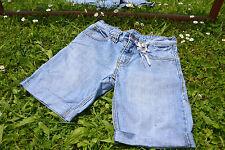 s.Oliver Girl's Vtg High Waist Denim Pants Shorts Rework Custom sz 10-11 yrs M30