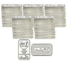 SilverTowne Logo 1oz .999 Fine Silver Bar LOT OF 100