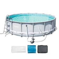 "Bestway 16' x 48"" Power Steel Frame Above Ground Pool Set with Filter  
