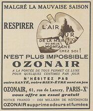 Z9969 OZONAIR l'air pur -  Pubblicità d'epoca - 1937 Old advertising