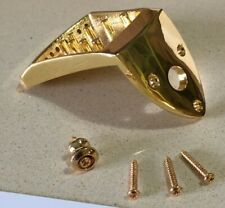 NEW COMPLETE GOLD ASHTON BAILEY CAST MANDOLIN TAILPIECE w/ END PIN + SCREWS
