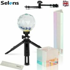 More details for 3pcs photo crystal clear prism set with tripod optical glass for rainbow effect