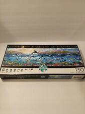 The Big Blue Sea Buffalo Panoramic Jigsaw Puzzle 750pc Rare