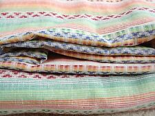 Multicolor Cotton Blend Striped Woven Fabric Orange Green Red Yellow Exotic Bolt