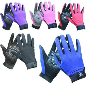 Women Summer Bike Cycling Gloves Outdoor Polyester Breathable Full Fingers Mesh