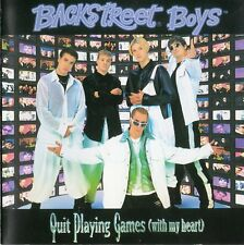 """BACKSTREET BOYS """"QUIT PLAYING GAMES (WITH MY HEART)"""" JAPANESE CD MAXI WITH OBI"""
