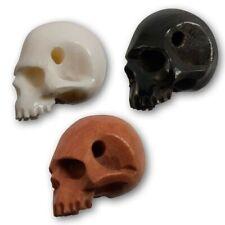 Totenkopf Horn Knochen Holz Anhänger Perle charm bead kette schädel gothic skull
