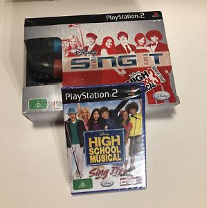 PlayStation 2 Disney Sing It High School Musical 1 & 3 Bundle Game + Microphones