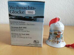 Hutschenreuther Weihnachtsglocke 1984 Fischerdorf Porzellan Dekor OVP von 1992