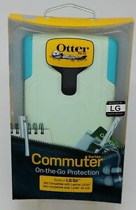 NEW OtterBox Commuter Case for LG G4 Cool Melon Sage Green / Teal